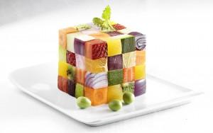 Cube de fruits et légumes