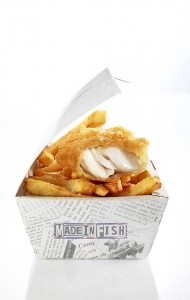 Boîte de fish and chips