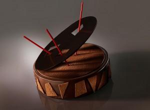 Entremet de chocolat design pour délices et créations