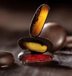 Macarons aux fruits enrobé de chocolat