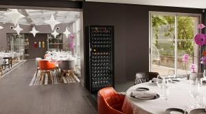 Cave à vin Eurocave dans le restaurant Tetedoie