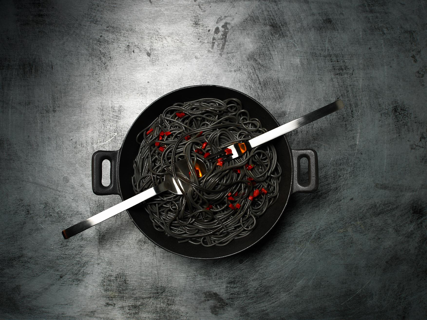 Spaghettis noires